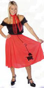 50s poodle skirt costume