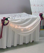 fabric table drape