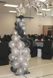 Black and White Balloon column