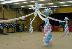 Dance Floor Prom decor with Balloon Columns