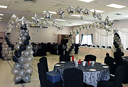 Balloon Columns and Silver Stars