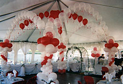 Red and White Dance Floor canopy