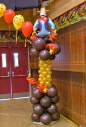 Western theme Balloon Column