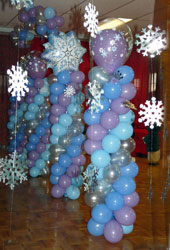 Winter Wonderland Balloon Columns