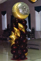 Moon and Stars Balloon column