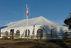 tent with cathedral windows