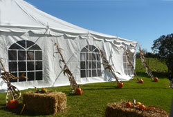 White Tent with Cathedral Windows