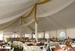 Elegant Tent decor