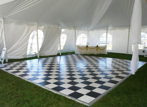 dance floor in tent