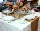 burlap napkins and table runner